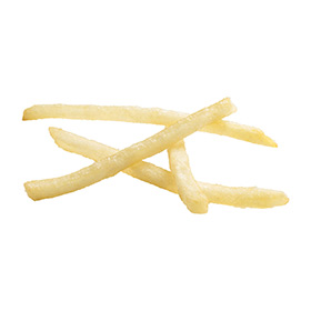 Clear Coated Shoestring Cut Fries