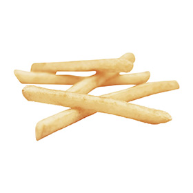 Clear Coated Straight Cut Fries
